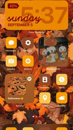 Iphone Wallpaper Themes, Ios Wallpapers, Autumn Aesthetic, Phone Organization, Fall Halloween, Homescreen, Aesthetic Wallpapers, Messages, Feels
