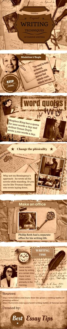 Writing Tips From Famous Authors: INFOGRAPHIC | GalleyCat