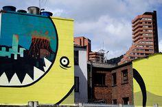 O papel da arte urbana no Corredor Cultural da Calle 26 em Bogotá,20.26 DC, proyecto ganador de una de las becas de intervención artística temporal sobre la calle 26 otorgada por IDARTES.. Image © Ricardo Zokos
