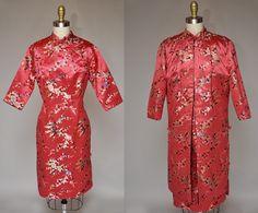 Jahr des Kleides Hahn Vintage 50er Jahre asiatische von terrasita