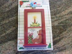 COMPLETE CHRISTMAS CROSS STITCH KIT, BEAR IN THE WINDOW #BEARINTHEWINDOW eBay item number:131569893589