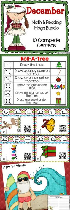 Included are 10 math and reading centers with student response sheets. Just print, laminate, and enjoy.  Check out the preview for a freebie! :) Created by Alma Almazan