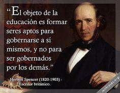 Herbert Spencer, escritor británico. | milfrases.org