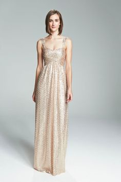 Bridesmaid Dress Loire. Amsale. Sequin.