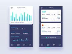 Company Finanance Manager - Mobile Application by Piotr Kmita Mobile Application Design, Mobile Web Design, Mobile Application Development, App Design, Branding Design, Dashboard App, App Ui, Design Tape, Ui Design Inspiration