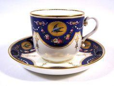 Minton Bird & Butterfly Cup & Saucer