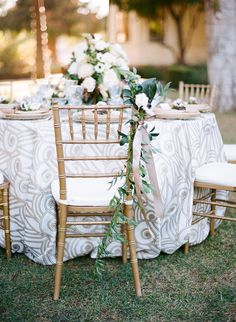 wedding chair - photo by Steven Leyva Photography http://ruffledblog.com/this-inspiration-shoot-is-dripping-with-old-hollywood-glam