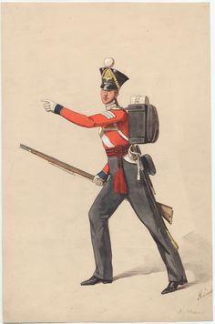 Sergeant, Royal Marines c. British Uniforms, Navy Uniforms, Military Uniforms, Royal Navy Uniform, Brown Bess, Red Coats, Frank Morrison, Victorian Life, Royal Marines
