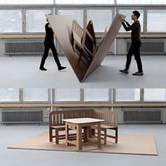 Liddy Scheffknecht's POP UP furniture is like a life sized pop up book! Folding Furniture, Cardboard Furniture, Furniture Design, Cardboard Design, Paper Engineering, Best Book Covers, Stage Design, Kirigami, Portfolio Design