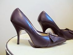 60s Purple Vintage High Heels Mad Men Shoes by BettesBargains, $48.00