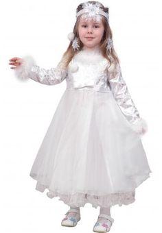 Белое новогоднее платье для малышей