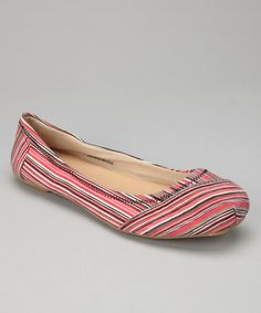 Take a look at this Pink Stripe Ballet Flat by Shoes of Soul - on #zulily today!