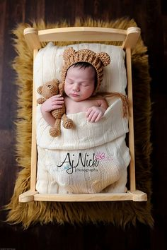 newborn teddy bear bonnet & matching teddy by snaphappyboutique