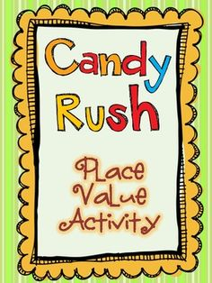 Eureka! Your students have struck candy gold! Using bags of candy (included in the packet), your students will unlock the mystery of Place Value, all aligned to Common Core Standards. Your students will have a blast with this activity, which incorporate Data standards as well. $