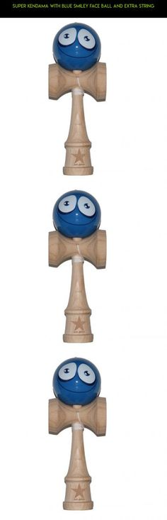 Super Kendama With Blue Smiley Face Ball And Extra String #super #fpv #kit #kendama #tech #racing #plans #shopping #camera #products #parts #gadgets #drone #technology
