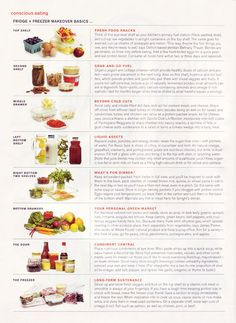 A guide to a healthy fridge...