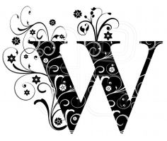 Letter W, alphabet, arabic, art