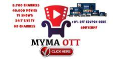 MYMA OTT Royal IPTV Coupon Code 6DMYEHMF
