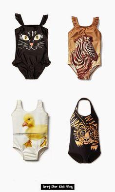 3e5656799a307 Girls Animal Print One Piece Swimsuit
