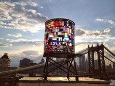 Stained glass water tower - Brooklyn, NYC #architecture ☮k☮