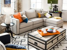 Bring in the Spring! Lovesac's New Collection is Here   Chaise Sectional with Silver Birch / Navy Polyfelt Covers