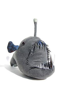 Stuffed animal angler fish