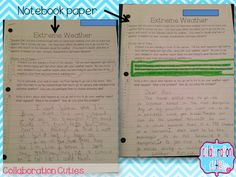 Did you know you can make photocopies on lined notebook paper? Plus writing in social studies from 4th grade teachers. :)