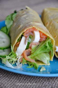 domowa tortilla Fresh Rolls, Mozzarella, Tacos, Fruit, Cooking, Ethnic Recipes, Vespa, Beverages, Wraps
