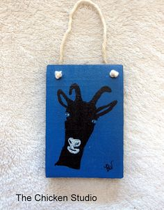 Goat Ornament Personalize Hand Painted by TheChickenStudio on Etsy