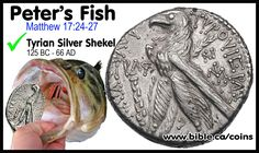 Coins of the Bible: Shekel of Tyre. official temple sanctuary tax coins