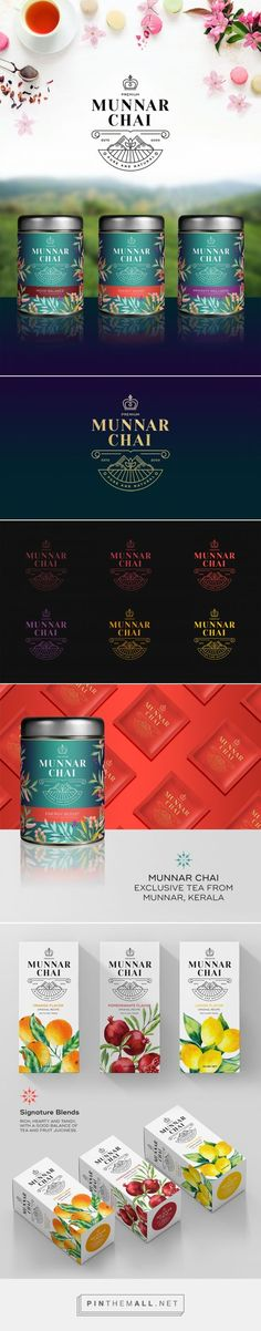 Munnar Chai by Baiju Cherian. Source: Behance. Pin curated by #SFields99 #packaging #design #branding #inspiration #ideas #tea | Design | Pinterest