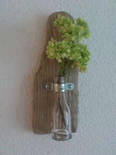 Vases - ~ Wall Vase I - Driftwood ~ - a unique product by nordic-Art at DaWan .