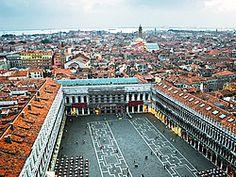 Plaza San Marcos desde el Campanile Venecia