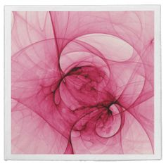 Pink Abstract Art Paper Napkins