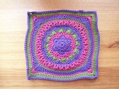 Odyssey 12'' Square - Afghan Square with Flower, mandala, no gaps -- FREE from Ravelry.com