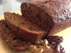 Delicious date and walnut loaf cake
