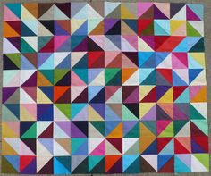 Colorful Quilt: one way to use my small scraps.