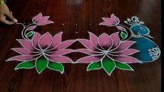 Rangoli Designs Latest, Simple Rangoli Designs Images, Rangoli Designs Flower, Rangoli Patterns, Rangoli Kolam Designs, Rangoli Designs With Dots, Beautiful Rangoli Designs, Lotus Rangoli, Indian Rangoli