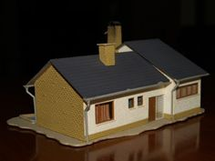 HO Scale Building Scenery House with Pool Used No Assembly Needed | eBay