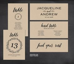 Wedding Seating Chart Template Seating Plan by MintyPaperieShop