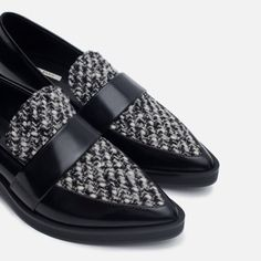 Zara shoes New with tag. Upper: 75% Polyurethane 21% Polyester 4% Wool Lining: 70% Polyurethane 30% Polyester Sole: 100% Polyurethane Thermoplastic EUR 36 US 6 Fits size 6 to 6.5 Zara Shoes