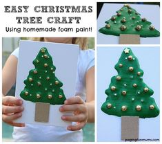 Here's a fantastic and frugal way to create some textured Christmas Cards or Ornaments for family and loved ones!