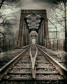 ~~Train Tracks To Troutdale ~ monochrome by Jayme Hagen~~