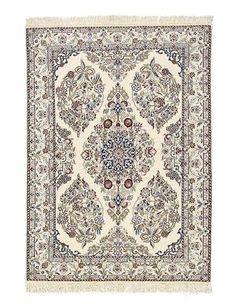 Nain extra fine, wool and silk-  Iran 144 x 100  I Amir Rasty & filles - Oriental carpets in Geneva