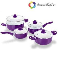 Batterie De Cuisine Batterie de Cuisine Ceramic Chef Pan (8 pièces) Vi