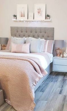 61 New Season and Trend Bedroom Design and Ideas 2020 Part 9 ; Diy Bedroom Decor For Girls, Teen Bedroom Designs, Room Design Bedroom, Bedroom Styles, Home Decor Bedroom, Bedroom Furniture, Furniture Sets, Bedroom Ideas, Stylish Bedroom