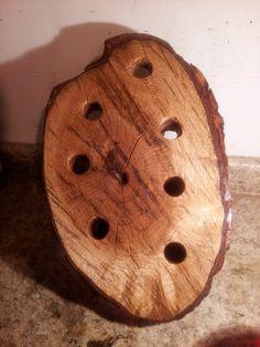Oak Log Wine Rack