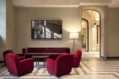 View the full picture gallery of Nh Collection Piazza Carlina Torino Furniture, Room, Interior, Sofa, Hotel, Nh Hotel, Home Decor, Interior Design, Hotels Design