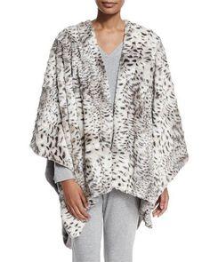 feaa2b33fac83 Natori Reversible Blanket Shawl