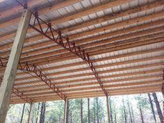 pole barn metal truss system
